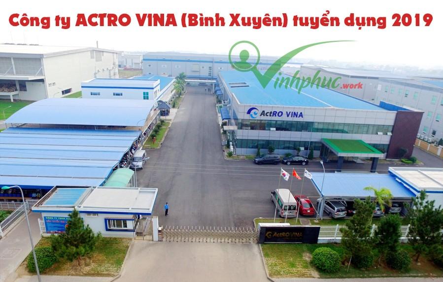Cong Ty Actro Vina Tuyen Dung 2019